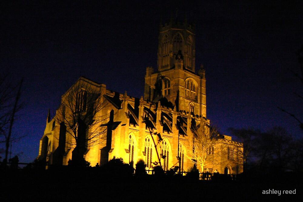 church at night by ashley reed