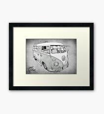 VW CAMPERVAN Framed Print