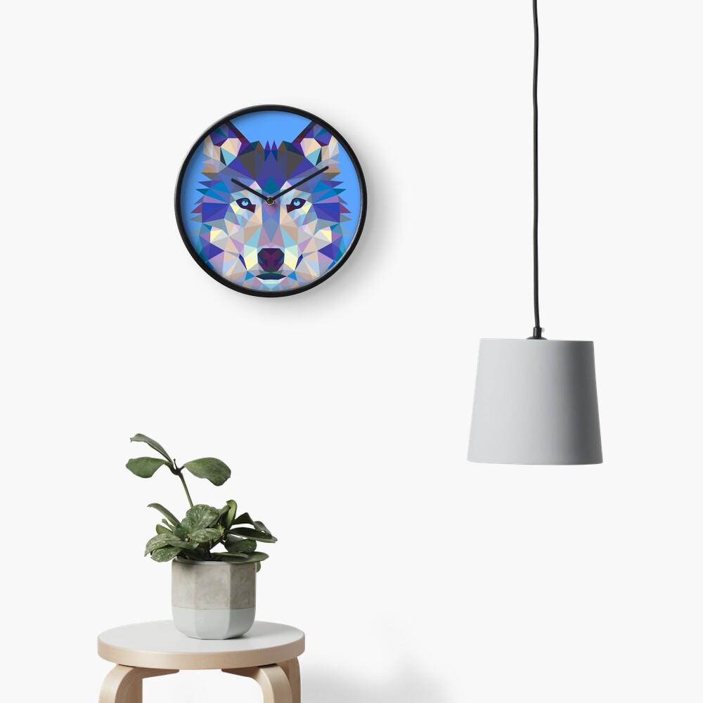 Lobo geométrico Reloj