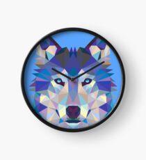 Geometrischer Wolf Uhr
