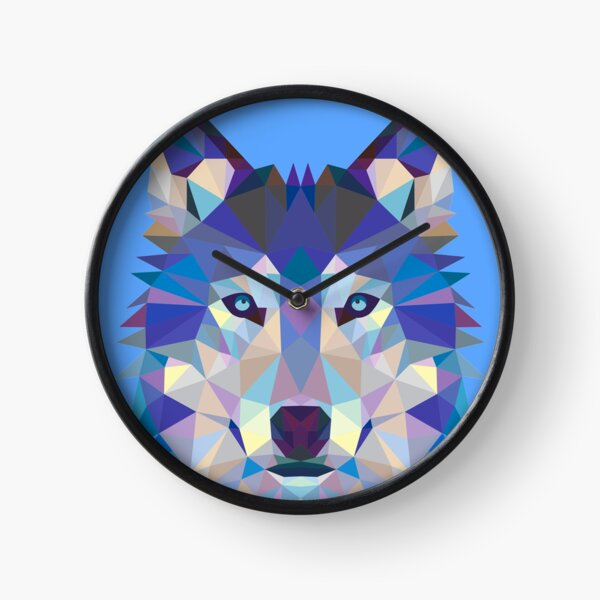 Geometric Wolf Clock
