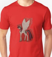 A Streak of Red and Grey Unisex T-Shirt