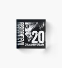 Resident Evil - 20th Anniversary With Anniversary Text Acrylic Block