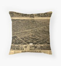 Birmingham 1885 Throw Pillow