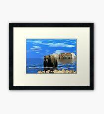 NA685-On Distant Shores Framed Print