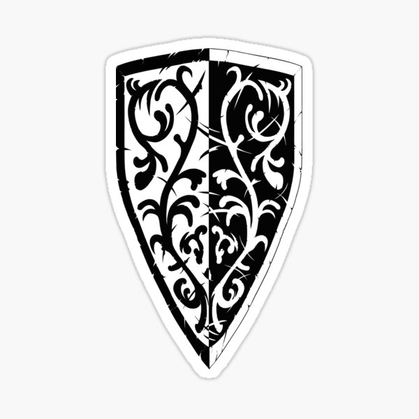 Grass Crest Shield Sticker