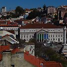 Looking Down On Rossio Square by wiggyofipswich
