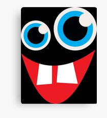 Goofy Monster Face Canvas Print