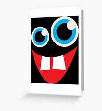 Goofy Monster Face Greeting Card