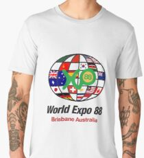 expo 88 logo with flags Men's Premium T-Shirt