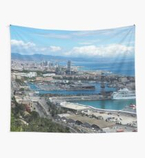 Barcelona Harbour Wall Tapestry