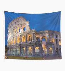 Colosseum At Night Wall Tapestry