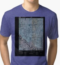 USGS TOPO Map Iowa IA Rising Sun 20100422 TM Inverted Tri-blend T-Shirt