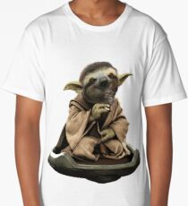 Inner Peace Sloth Yoda  Long T-Shirt