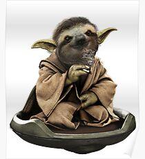 Inner Peace Sloth Yoda  Poster