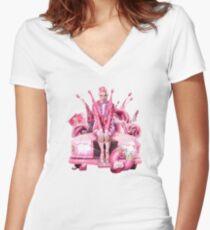 chester lockhart Women's Fitted V-Neck T-Shirt