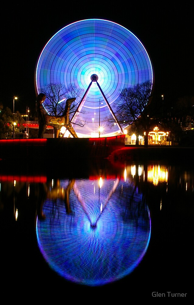 Reflected Wheel by Glen Turner