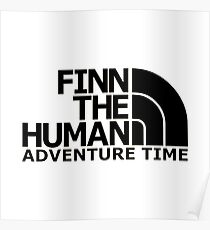 finn the human adventure time Poster