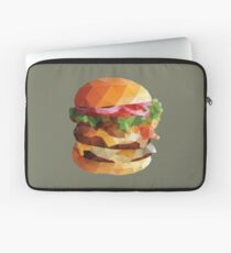Gourmet Burger Polygon Art Laptop Sleeve