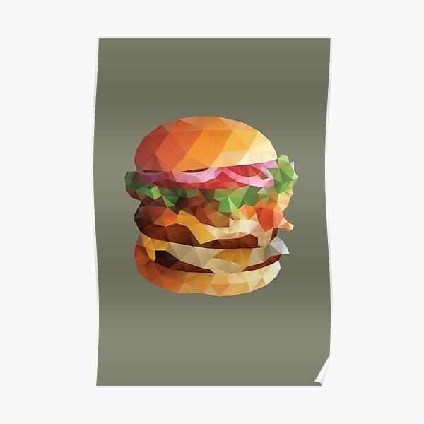 Gourmet Burger Polygon Art Poster