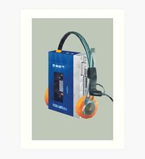 Sony Walkman TPS-L2 with MDR-5A Headphone Polygon Art Art Print