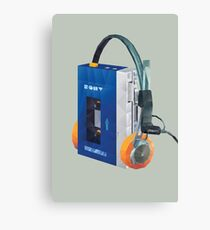 Sony Walkman TPS-L2 with MDR-5A Headphone Polygon Art Canvas Print