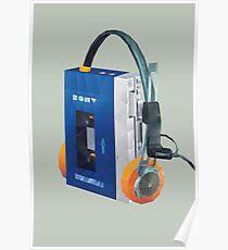 Sony Walkman TPS-L2 mit MDR-5A Kopfhörer Polygon Art.-Nr. Poster