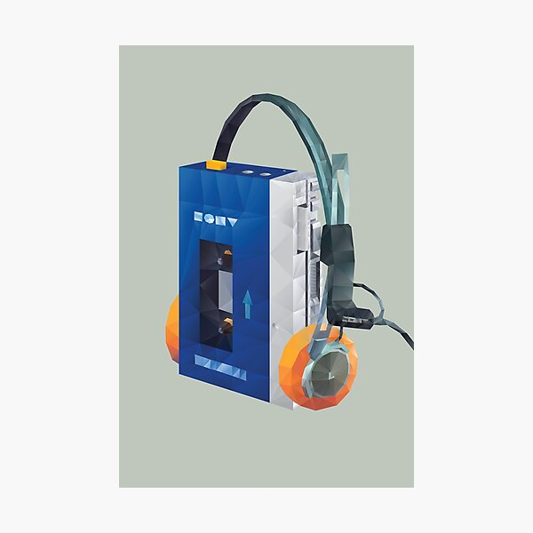 Sony Walkman TPS-L2 with MDR-5A Headphone Polygon Art Photographic Print