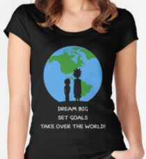 Dreams and Goals Women's Fitted Scoop T-Shirt