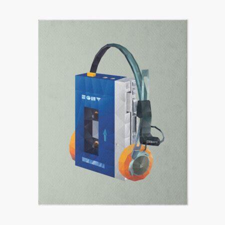 Sony Walkman TPS-L2 with MDR-5A Headphone Polygon Art Art Board Print