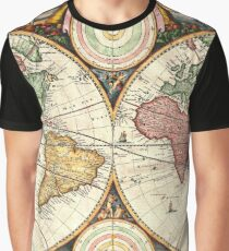 Vintage Maps Of The World Graphic T-Shirt