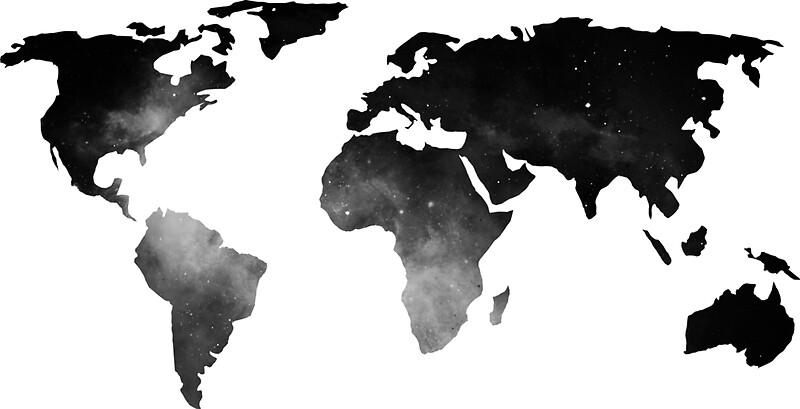 Pegatinas mapa del mundo espacio estrellas en blanco y negro de mapa del mundo espacio estrellas en blanco y negro de naturemagick gumiabroncs Gallery
