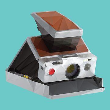 Retro Polaroid SX-70 Camera Polygon Art by polymolystudio