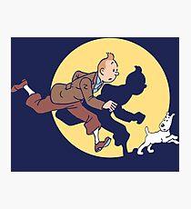 Tintin & Snowy Photographic Print