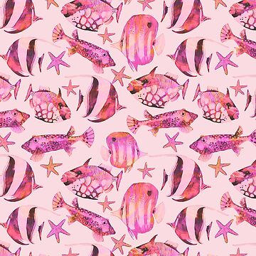 Soft pink underwater fish scenery by artsandsoul