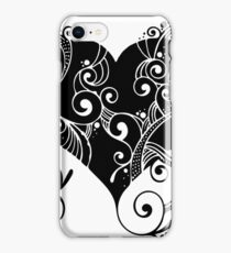Heart, love, romance, relationship, valentine, silhouette, vector iPhone Case/Skin