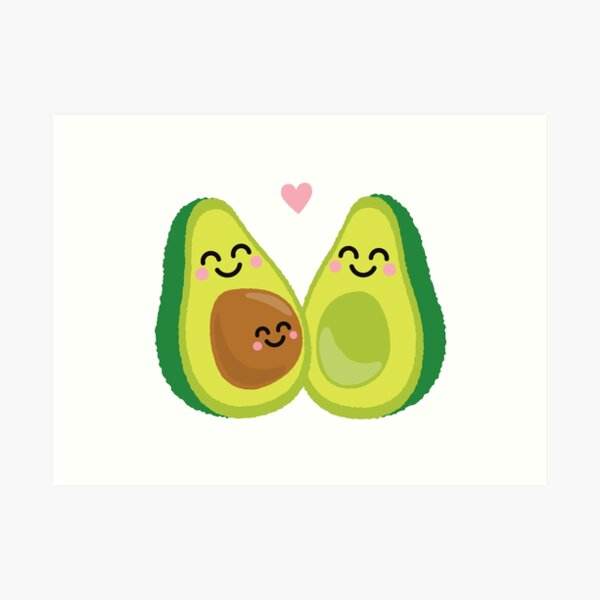 Funny Baby Pregnancy Announcement Shirt & Gifts: We're 'Avin A Baby Avocado Art Print