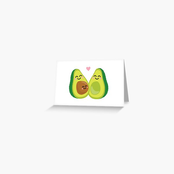 Funny Baby Pregnancy Announcement Shirt & Gifts: We're 'Avin A Baby Avocado Greeting Card