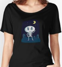 Skeleton cute bone halloween happy holiday october fun tomb halloween Women's Relaxed Fit T-Shirt