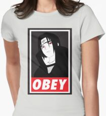 Itachi Obey Womens Fitted T-Shirt
