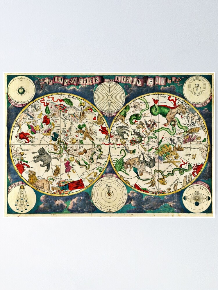 Alternate view of Celestial map Poster