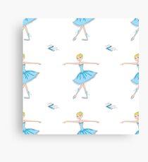 Cute and beauty Ballet dancer Canvas Print