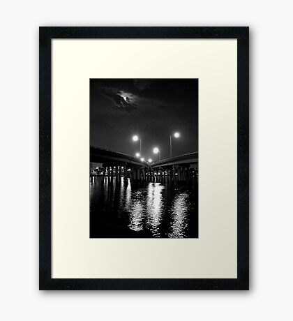 Two roads diverged... Framed Print