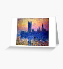 parliament of london Claude Monet Greeting Card