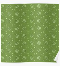 Mini Floral Green Pattern Poster