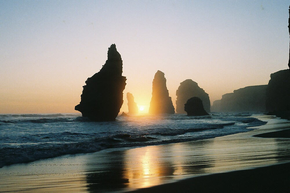 Twelve Apostles at sunset by Alwyn Hanson