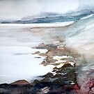 pebbles and rock pools by Claudia Dingle