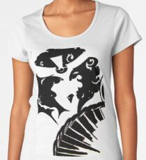 art deco mirror op art flapper black white mod Jacqueline Mcculloch Women's Premium T-Shirt