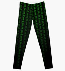 The Machix Green Neon on Black Halloween Fun Leggings