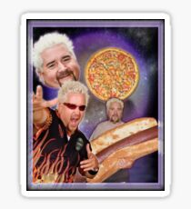 Three Guy Fieri Moon [Print/Sticker/Notebook] Sticker